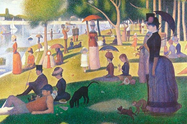 Painting with Dots – The Circus, Seurat
